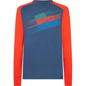 La Sportiva Stripe Evo Camisa Manga Larga Hombre, opal/poppy